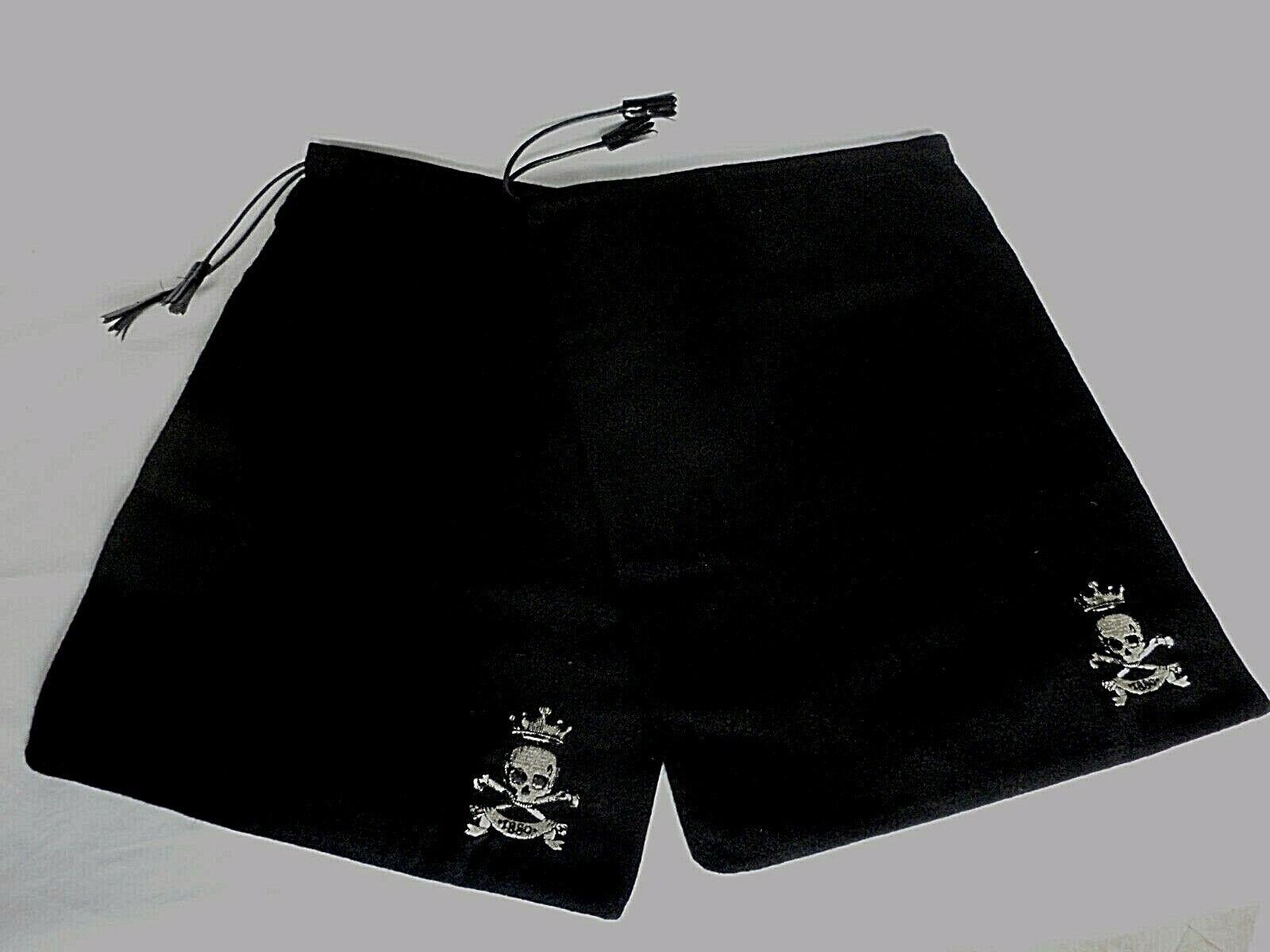 Barker Black Collection Cotton BOOT Pair Of Dustbag Sleeper Bag SKULL & X BONES