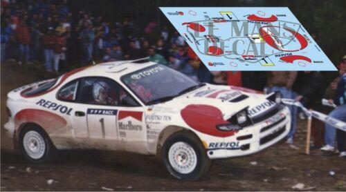 Calcas Toyota Celica ST185 Rallye Catalunya 1992 1:43 32 24 Sainz Schwarz decals