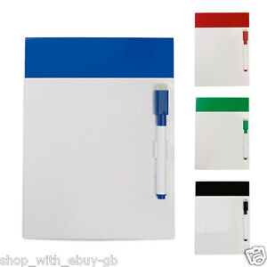 MAGNETIC-WHITE-BOARD-PEN-Drywipe-WHITEBOARD-FRIDGE-KITCHEN-MEMO-NOTICE-BOARD