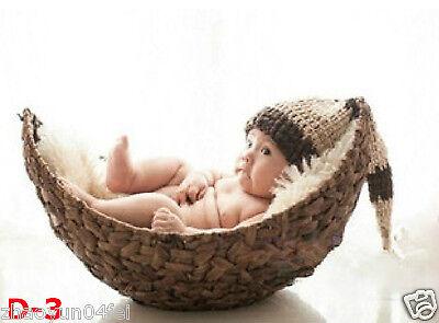 Newborn baby children photography photo Studio props handmade round basket D-3