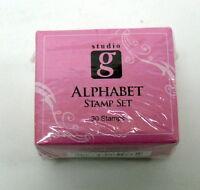 Studio Alphabet Rubber Stamp Mini Set Of 30