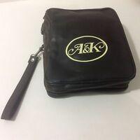 Abercrombie & Kent Brown Faux Leathertravel A & K Expandable Bag