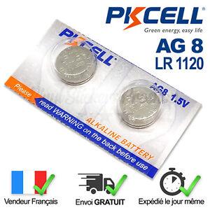 2-PILES-LR1120-AG8-SR55-391-SR1120W-1-5V-PKCELL-ALCALINE-ENVOI-RAPIDE
