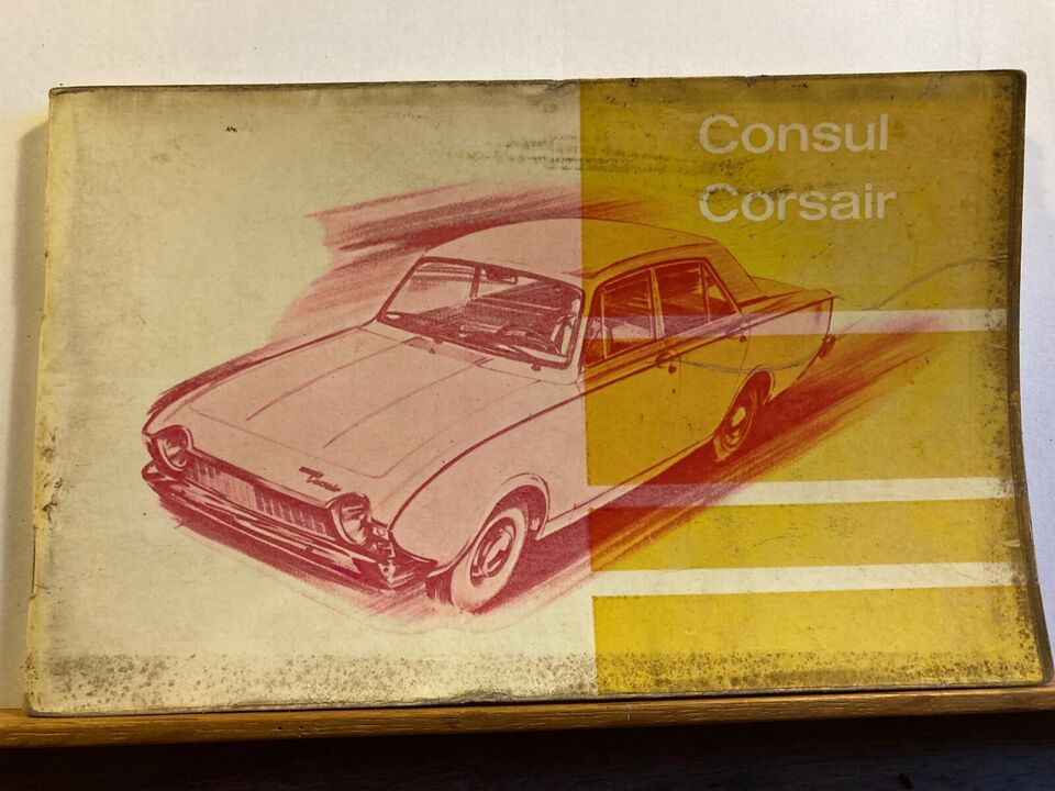 Instruktionsbog, Ford Consul Corsair
