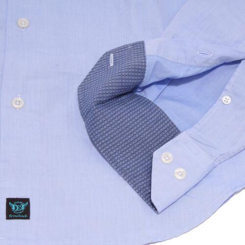 Light Cotton Shirt Brouback Camicia Uomo Man 1722x Blue 4nfqpvtwB