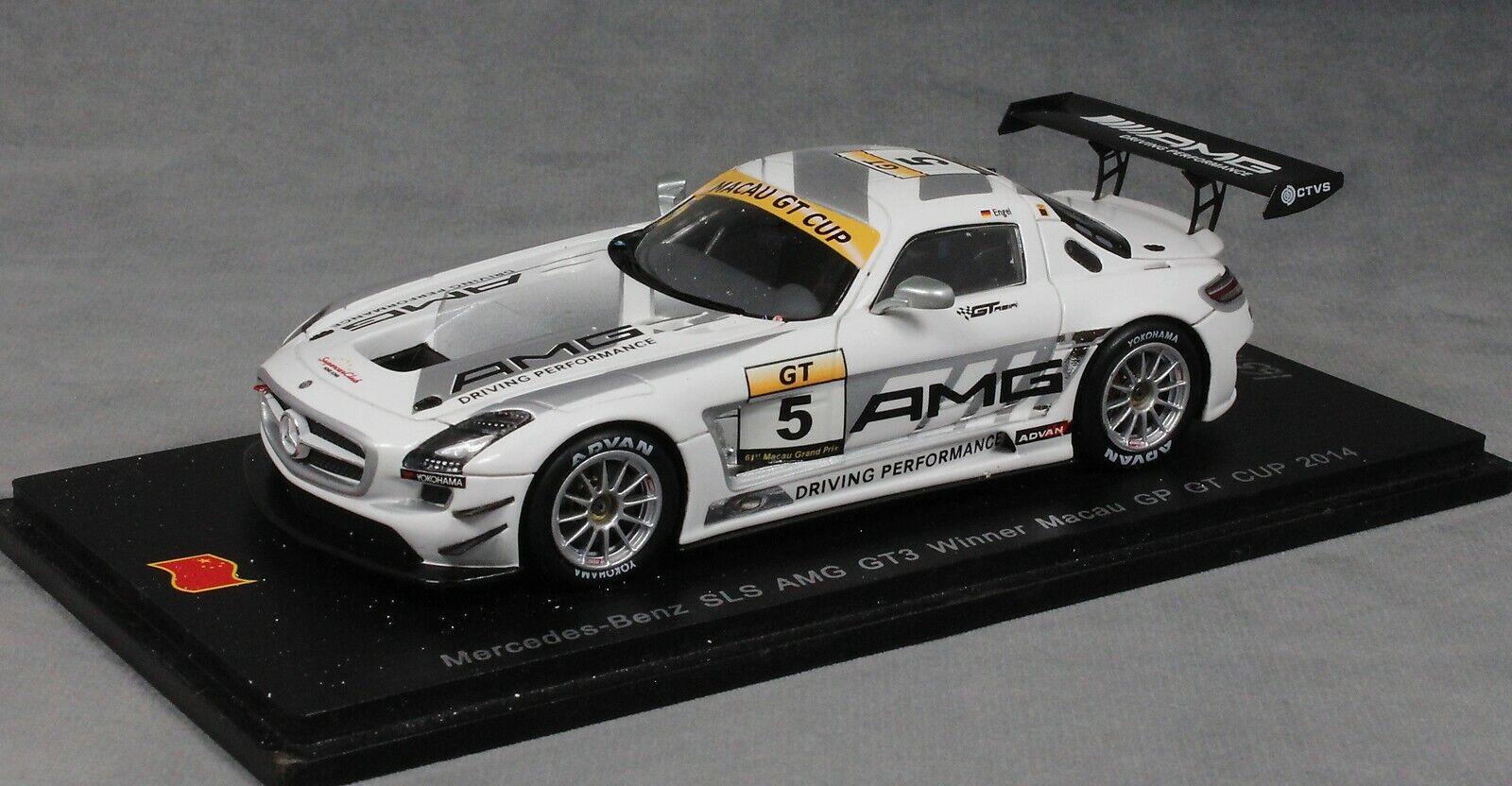SPARK Mercedes-Benz SLS AMG GT3 Macau GT Cup Winner 2014 Maro Engel SA068 1 43