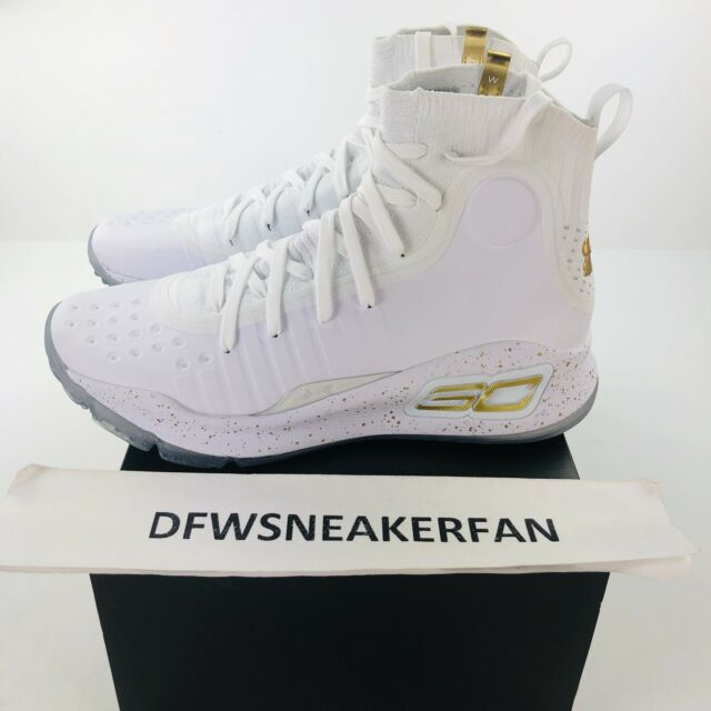 new style 86bbf 6fc24 Under Armour Steph Curry 4 White Gold Limited More Rings Size 13 1298306-102