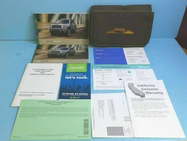 Compass 18 2018 Jeep Owner U0026 39 S Owners Manual Set With Case Manual Guide