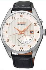 SEIKO SRN049P1,Men's Kinetic,Classic Look,Steel Case,Date,100m WR,SRN049