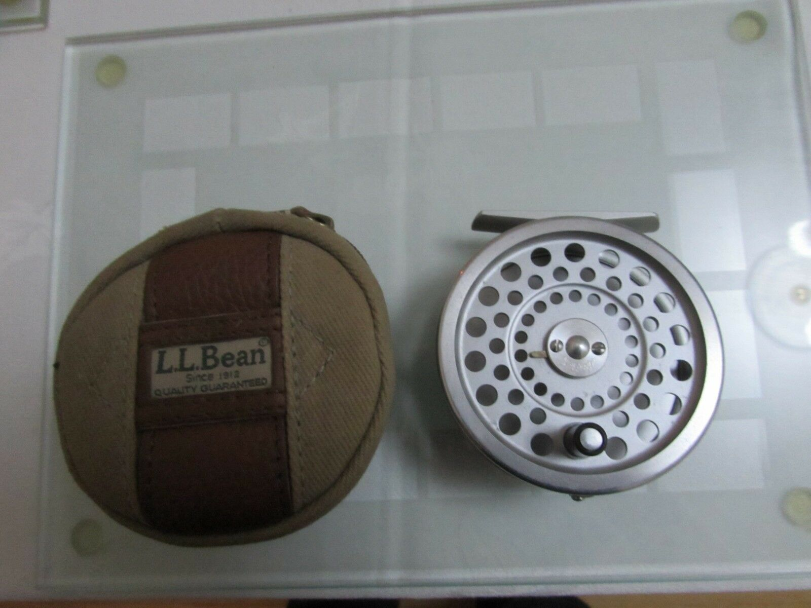 A1 vintage Hardy LL BEAN Guide 5 6 Marquis 6 Trout Fly Fishing Reel + étui