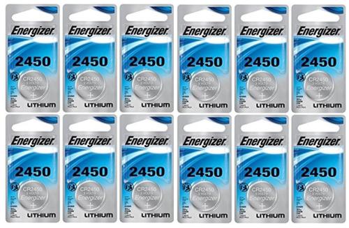 3v ECR2450 Energizer CR2450 Lithium Battery 12 PK