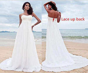 Beach Boho Maternity Wedding Dress Plus Size High Waist for Pregnant ...
