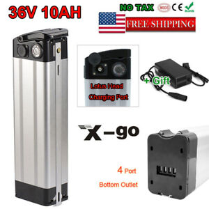 36V 10AH E-bike Lithium Battery Cell Pack w// Charger 350W Electric Bicycle US