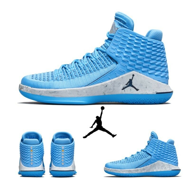 Air Jordan Jordan XXXII Basketball FlyKnit shoes Sz6-13 City bluee AA1253-401
