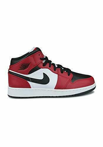Nike Air Jordan 1 Mid GS Chicago Black Toe Athletic Sneaker for ...