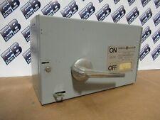 Ge Thfp361 Single 30 Amp 600 Volt 3 Pole Fusible Type Qmr Switch Warranty