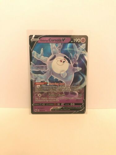 NM-M Galarian Cursola V 21//73 Near-Mint to Mint With Sleeve
