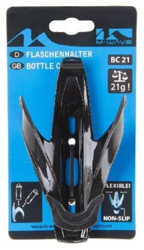 colore nero M-Wave bicicletta portaborraccia materiale sintetico
