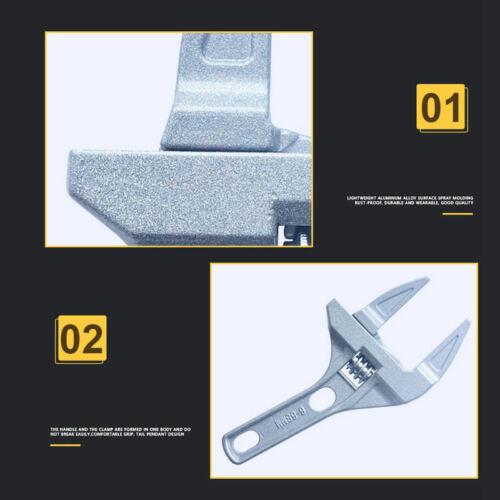 1X 16-68Mm Mini Verstellbarer Schrauben Schlüssel Kurzer Schaft Große Öffnun A2