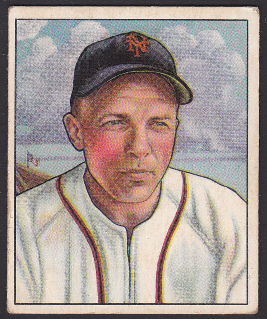 1950 Bowman Eddie Stanky New York Giants Bb 29 Baseball Card