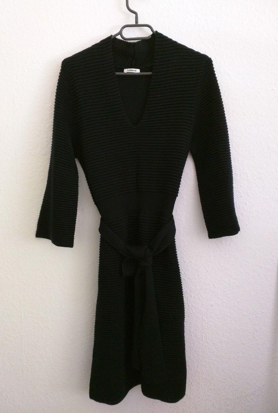 Damen Strickkleid aus  Wolle und Acryl V-Ausschnitt 3 4 Ärmeln Neuwertig
