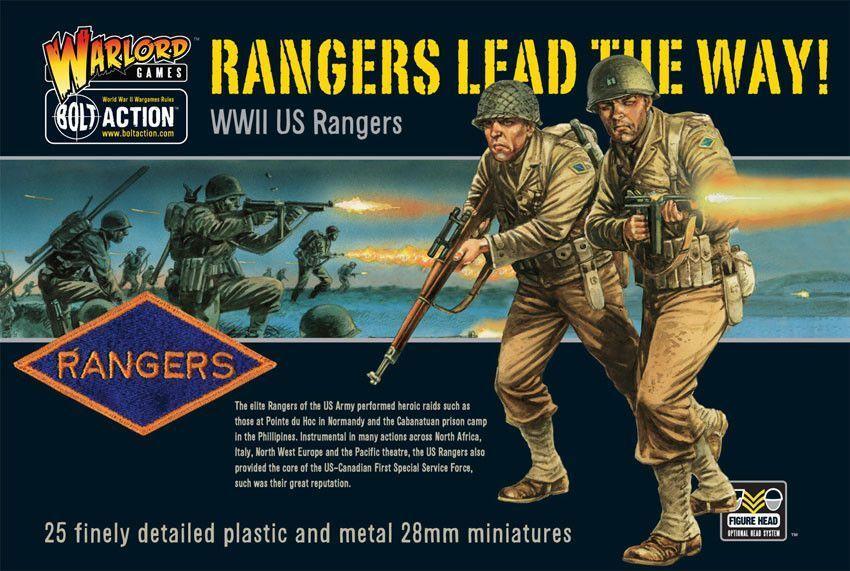 Warlord Games Noi Rangers Lead The Way 28mm Bullone Azione America WW2 USA