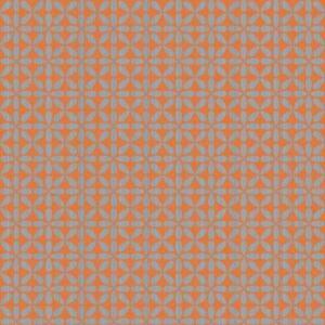 Wallpaper-Mid-Century-Modern-Retro-Gloss-Metallic-Brushed-Silver-on-Orange