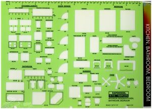 Berol Rapidesign Template Interior Design Kitchen Bathroom