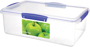 NEW Sistema Klip It Collection Food Storage Containers LOT of 3 PKGS-6.7oz X 2ea