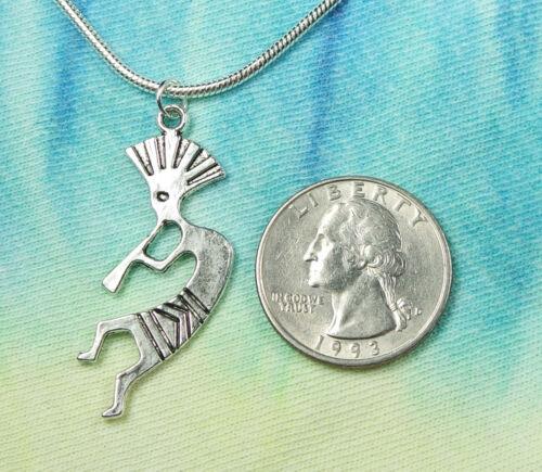 Fertility Diety Southwest Spirit of Music Charm Pendant Gift Kokopelli Necklace