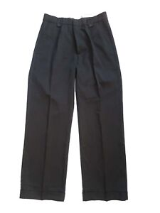 Mens-1940s-Swing-Vintage-Style-Black-Fishtail-Look-Trousers-With-Turn-Up-Hems