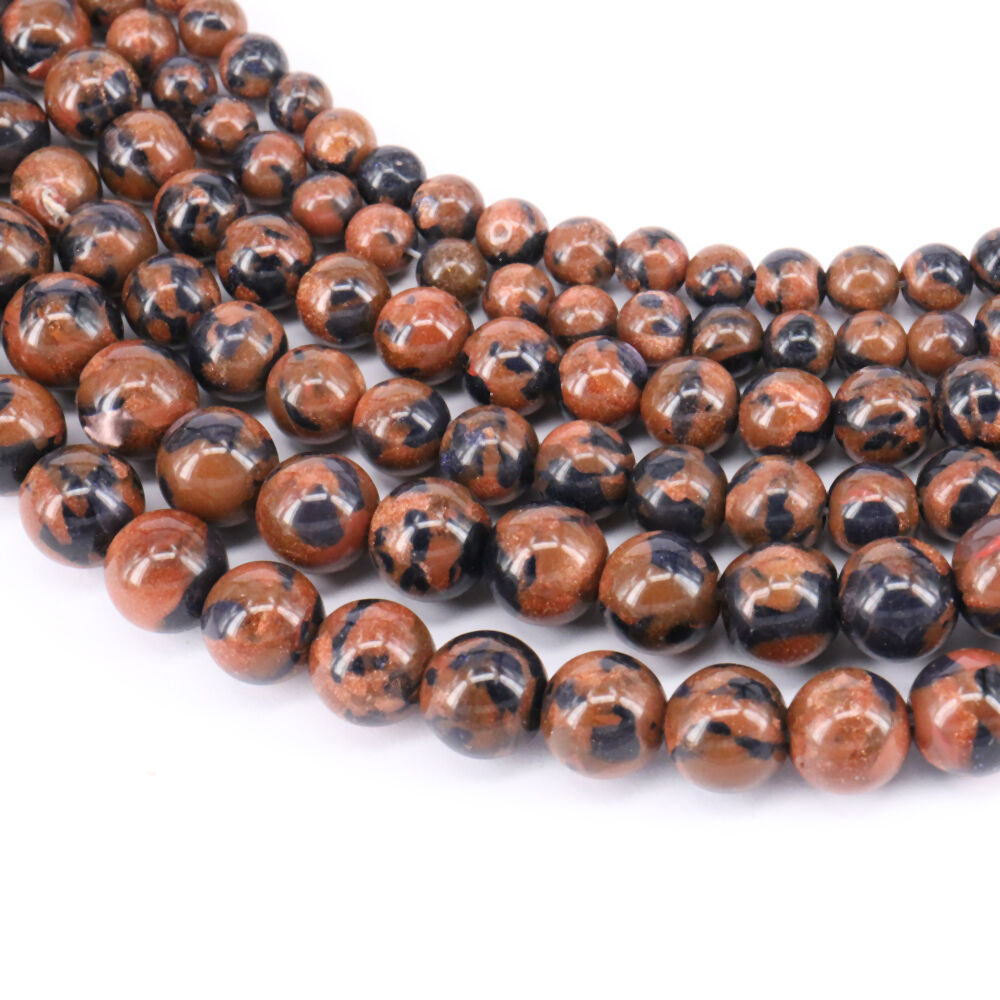 New Lots 15/'/' Natural Golden Sand Gemstone Spacer Loose Beads Finding 4//6//8//10MM