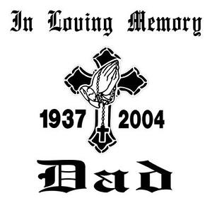In Loving Memory-Memorial Decal-Cross Praying hands Car ...