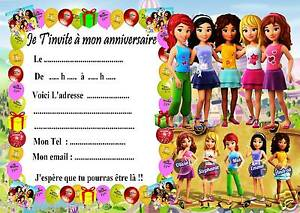 Détails Sur 5 Cartes Invitation Anniversaire Lego Friends 06 Dautres Articles En Vente