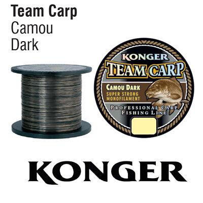 0,01 €//m 1000m karpfenschnur angel cuerda kong Team carp Camou dark grey nuevo