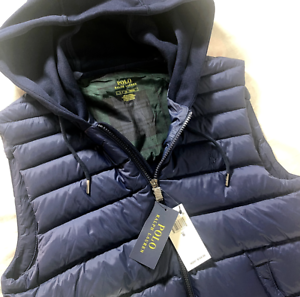 NWT Polo Ralph Lauren Paneled Down Performance Hooded Vest ...