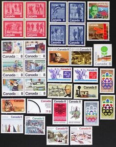 CANADA-Postage-Stamps-1974-Complete-Year-Set-collection-Mint-NH-See-scans
