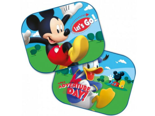 2 x Mickey And Donald Car Window  Sun Shades