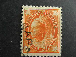 Canada-QV-8c-Sc-72-VF-centred-but-has-a-bent-perf-please-see-pictures