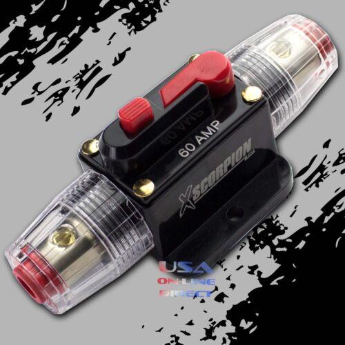 2pcs Marine Grade Gold Inline 12 Volt 60 Amp Power Circuit Breaker manual reset