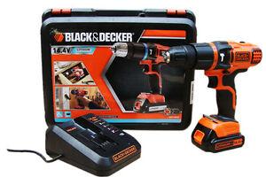 BLACK-amp-DECKER-BDK148-14-4V-2-GANG-SCHRAUBER-BOHRSCHRAUBER-AKKUSCHRAUBER-BDK148K