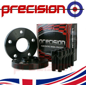 1 Pair 20mm Black Spacers with Bolts Nuts for Audi A5 with Aftermarket Alloys
