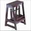 step stool - antique walnut wood