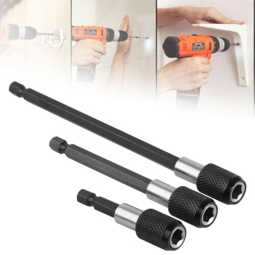 """3X Magnetic Screwdriver 1//4/"""" Extension Quick Release Hex Shank Holder Drill Bit"""