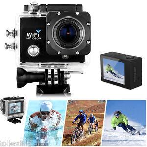 2.0'' Wifi 12MP HD 1080P Car Bike Helmet Cam Sports DV Action Waterproof Camera