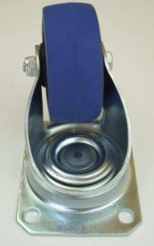 16 Stück 80 mm SL Gummi Rollen Blue Wheel Transportrollen Lenkrollen Lenkrolle