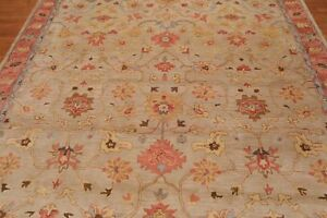 Antique-Hand-Made-Traditional-Agra-Beige-Pearsian-Oriental-Wool-Area-Rug