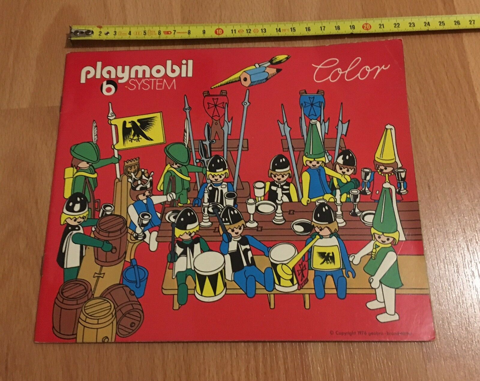 N•2   RARE LIVRE Book PLAYMOBIL System Coloreee 1976 KNIGHT CHEVALIER