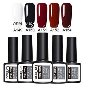 LEMOOC-5Pcs-8ml-Nagel-Gellack-Soak-off-Nail-Art-UV-Gel-Polish-Dark-Color-Kit