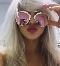WOMENS ROSE GOLD SUNGLASSES PINK TOWIE KYLIE KIM MIAMI ** FREE CASE **